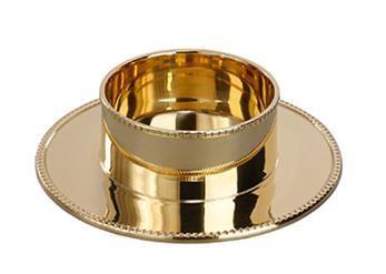 Kandelaar - goudkleurig doorsnee 5 cm