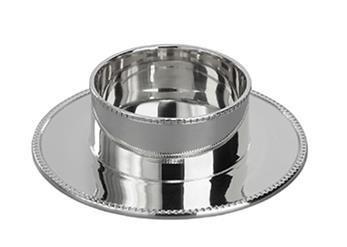 Kandelaar - zilverkleurig doorsnee 5 cm