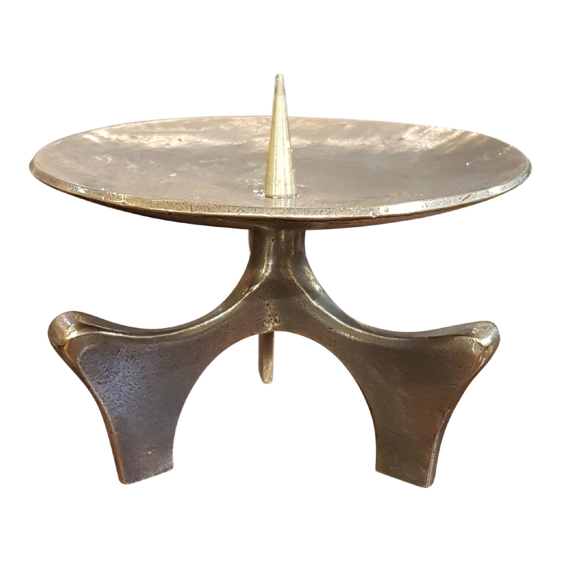 Bronzen kandelaar - hoog 12,5 cm