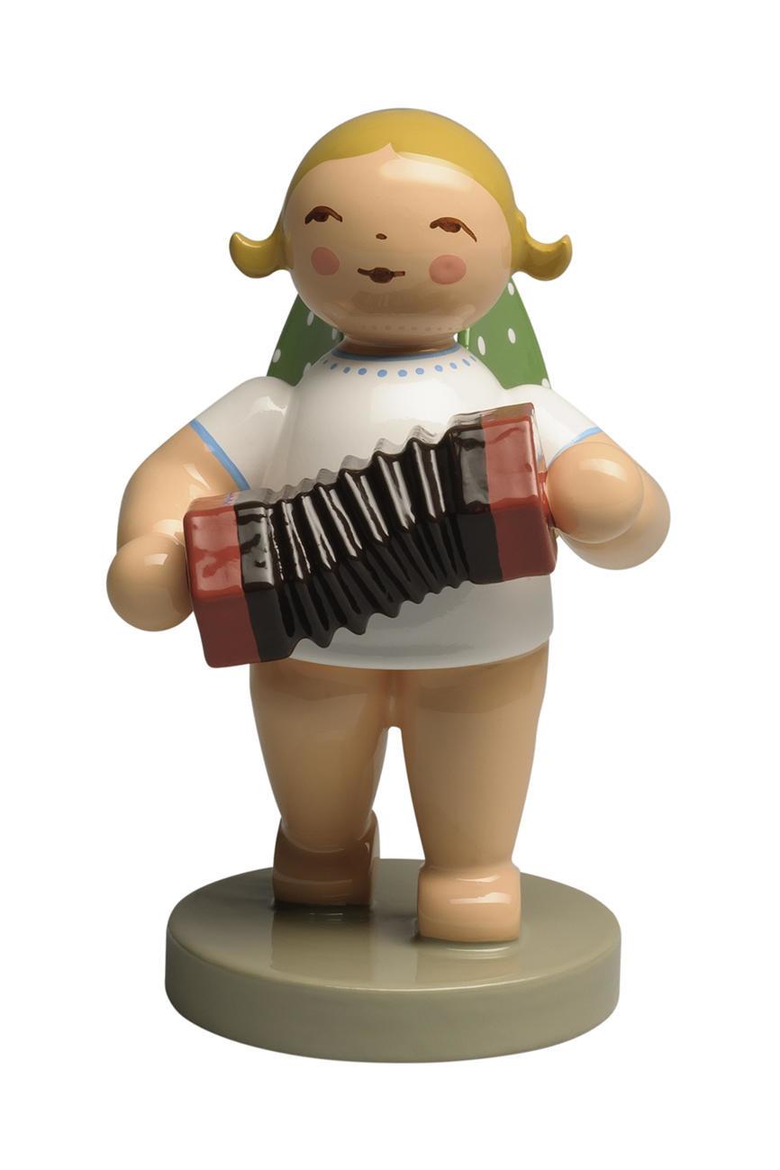 Engel met concertina (donker bruin)