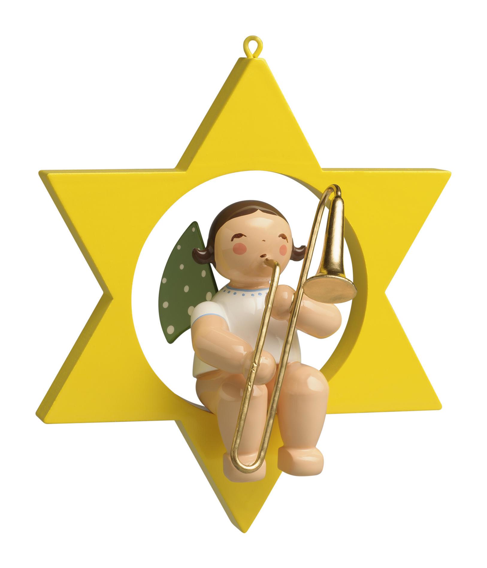 Engel met schuiftrombone - grote ster