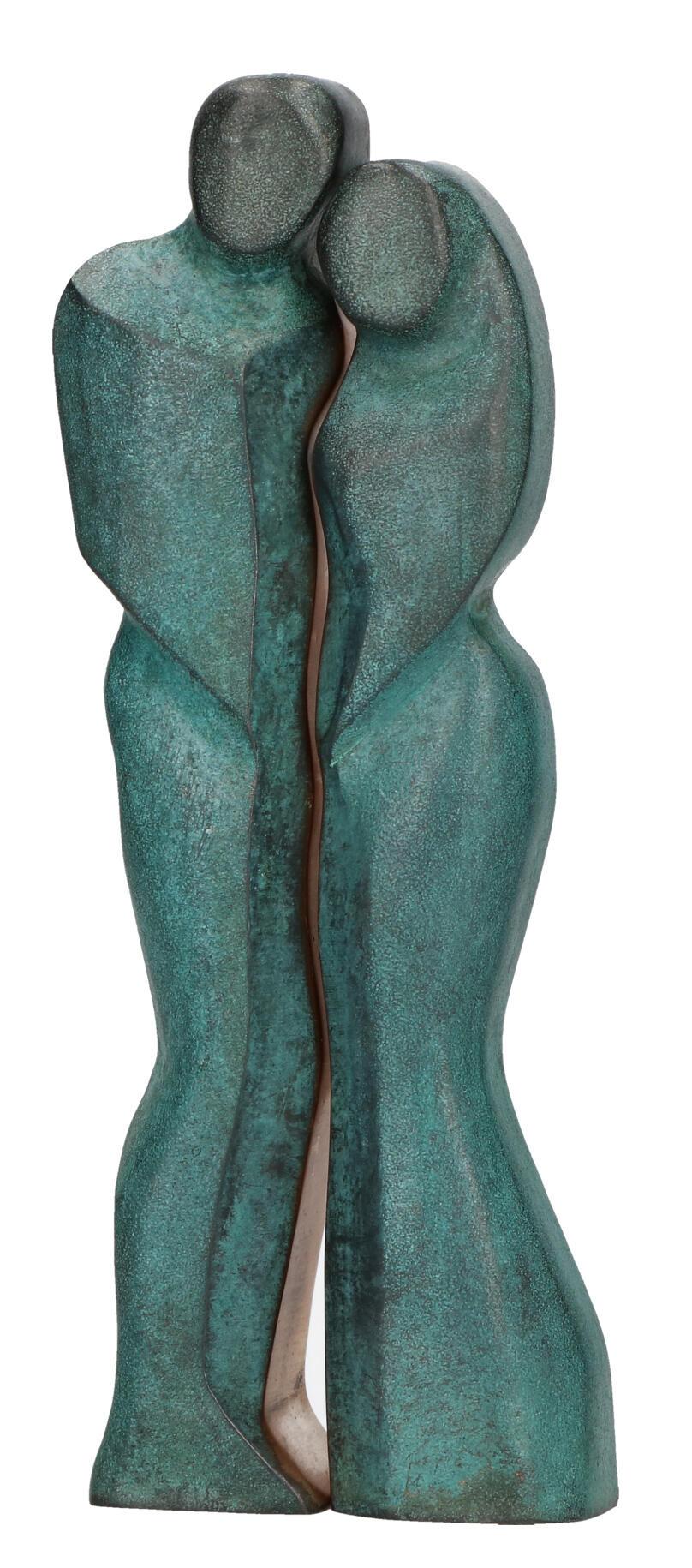 Bronzen beeld - man en vrouw 14,5 cm