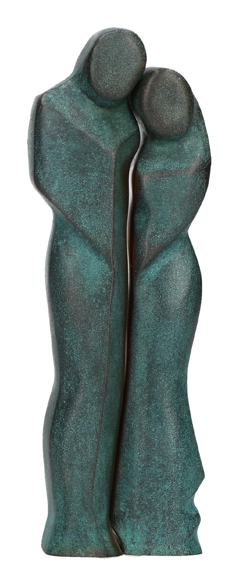 Bronzen beeld - man en vrouw 11,5 cm