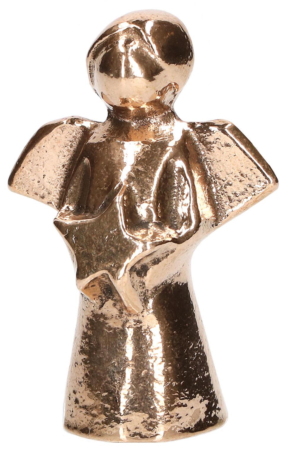 Bronzen engel met ster - klein