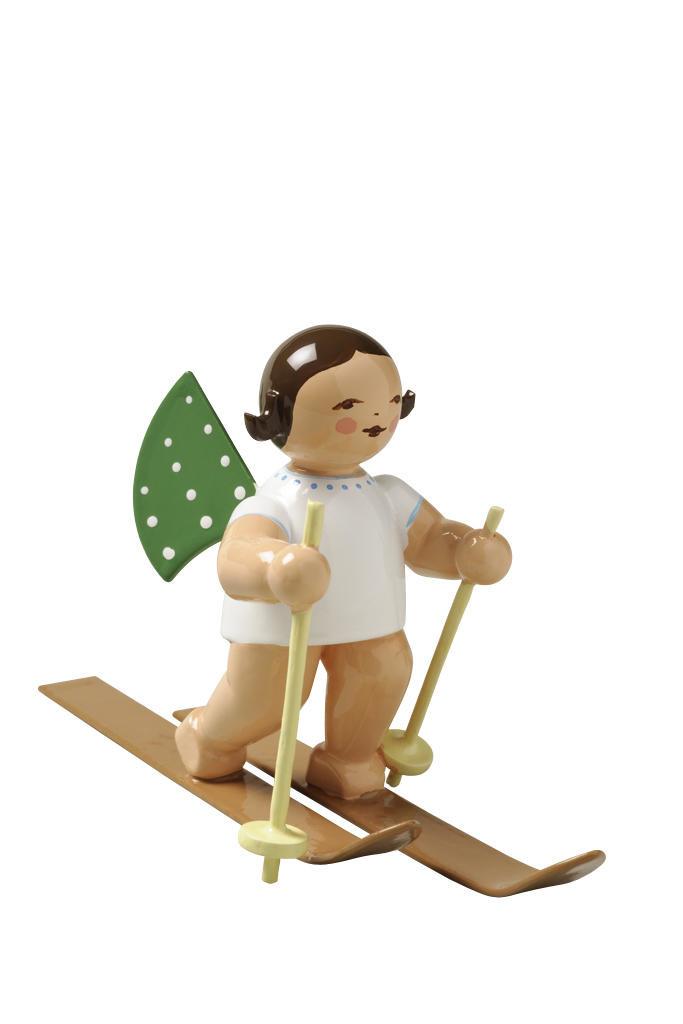 Engel op ski's