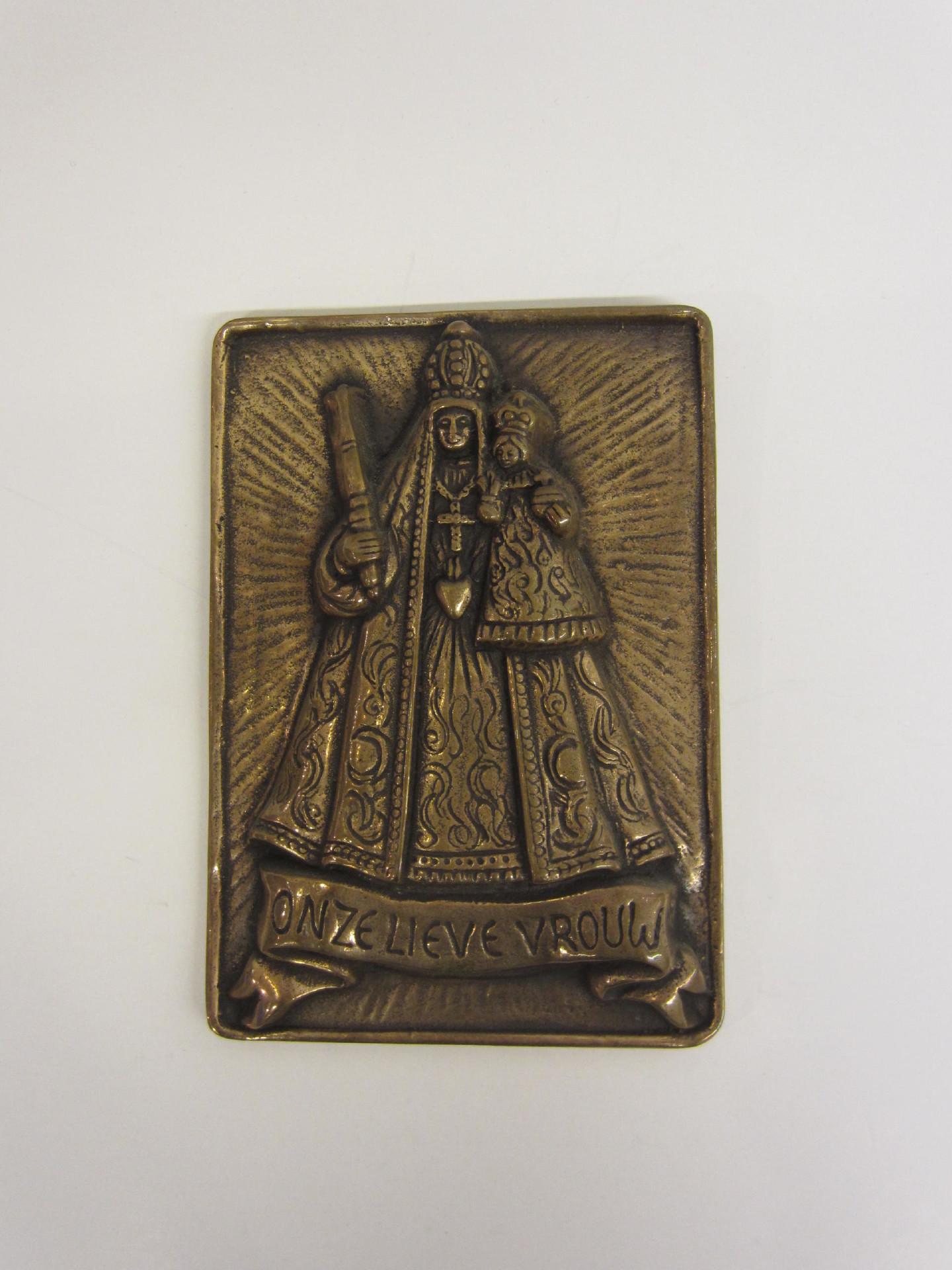 Plaquette Onze Lieve Vrouw - brons